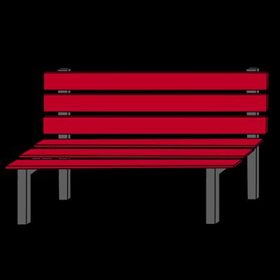 cartoon park bench clipart